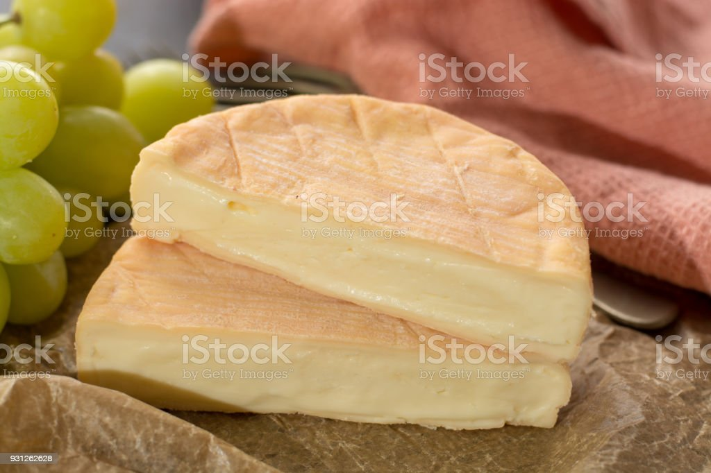 French soft strong smelling cheese Munster from Alsace stock photo