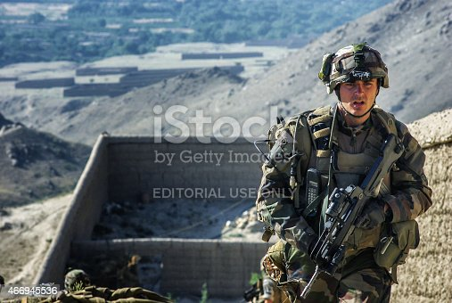 istock French soldier in Afghanistan 466945536