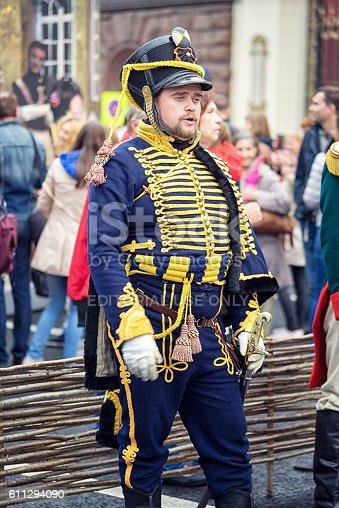istock French soldier Napoleon era in a uniform 611294090