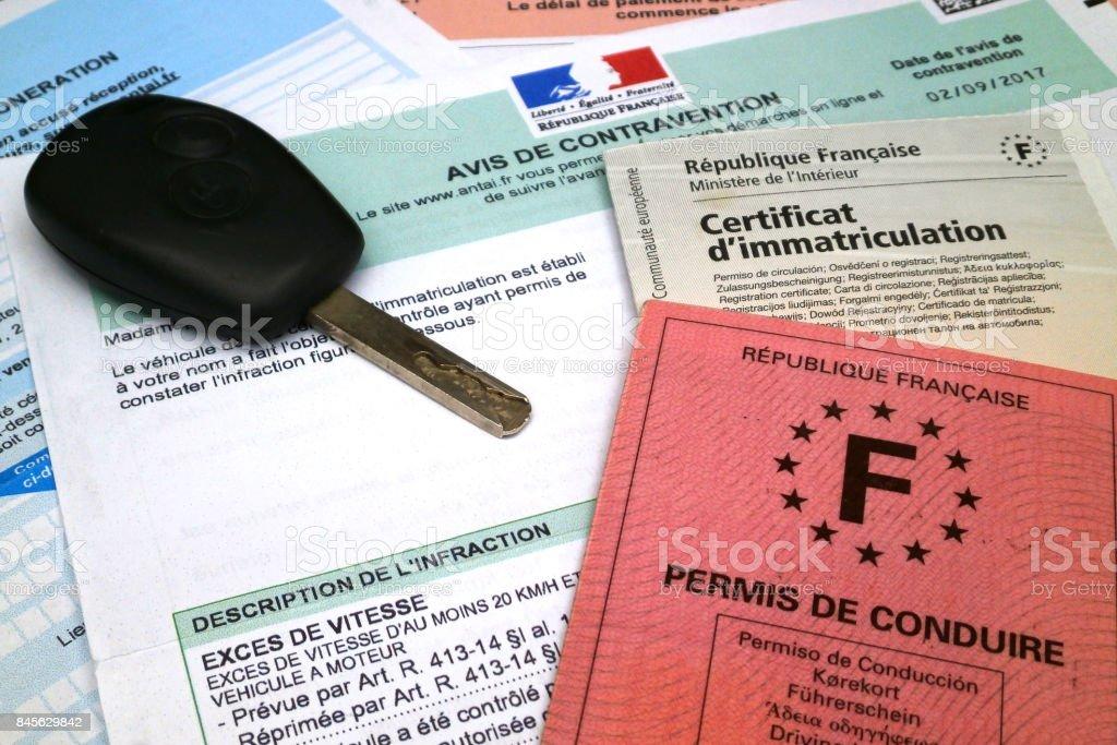 Contravention pour excès de Français - Photo