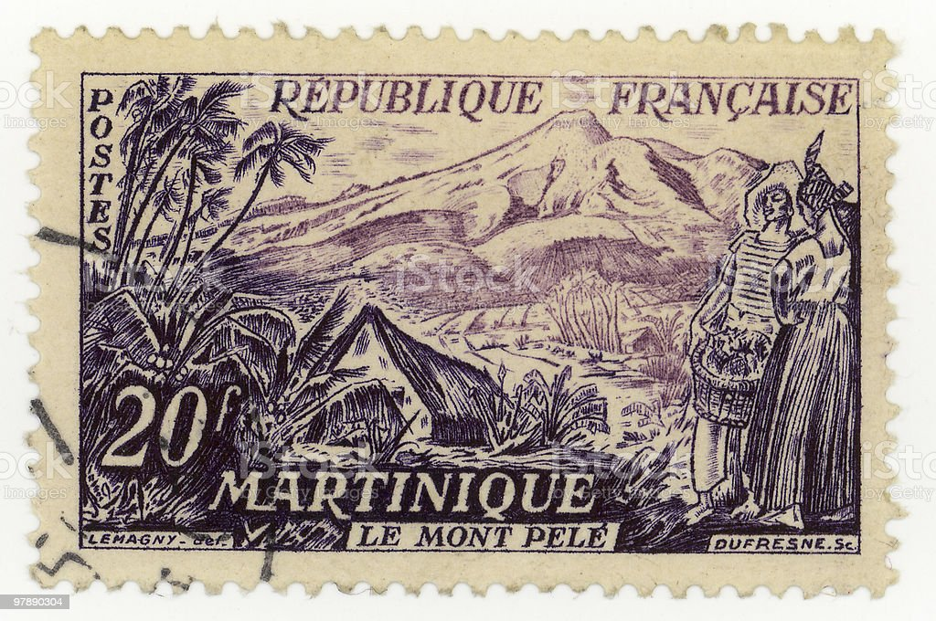 French Stamp From Martinique royalty-free stock photo