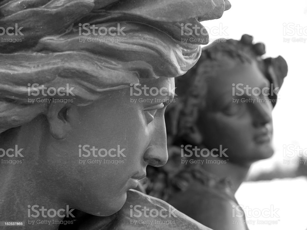 French Statues stock photo