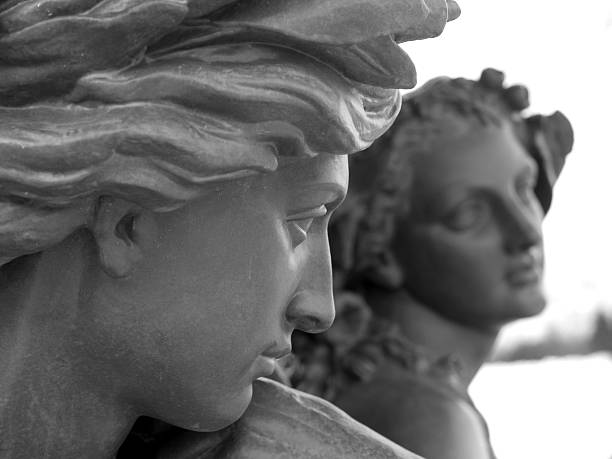 french statues - roman stock photos and pictures
