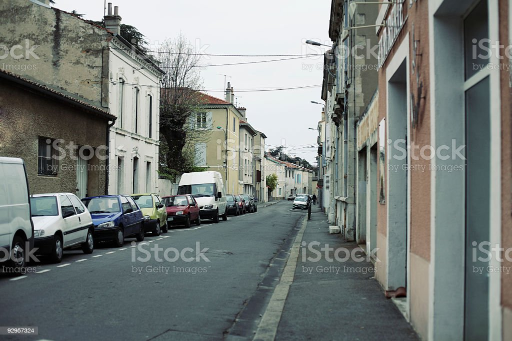 French street in a small city, France, Valence