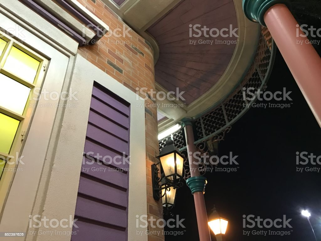 French style buildings in New Orleans stock photo