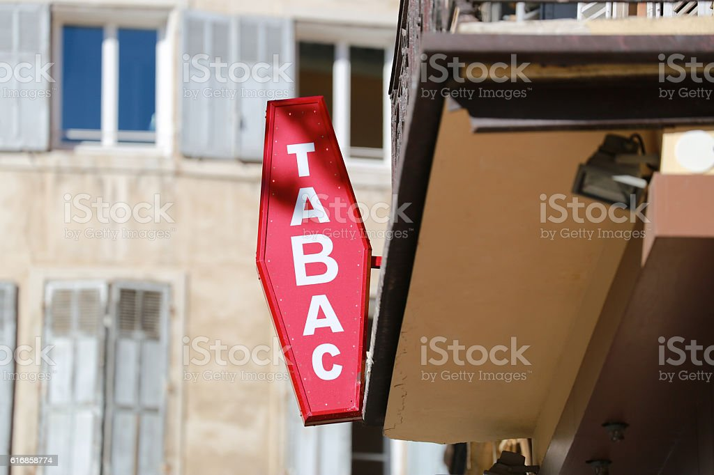 French Tabac Sign stock photo