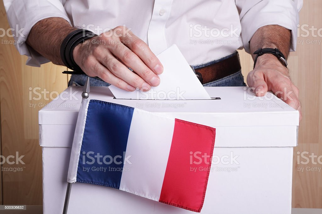 French to vote stock photo