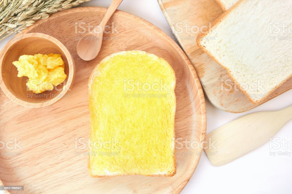 French toast and butter 免版稅 stock photo