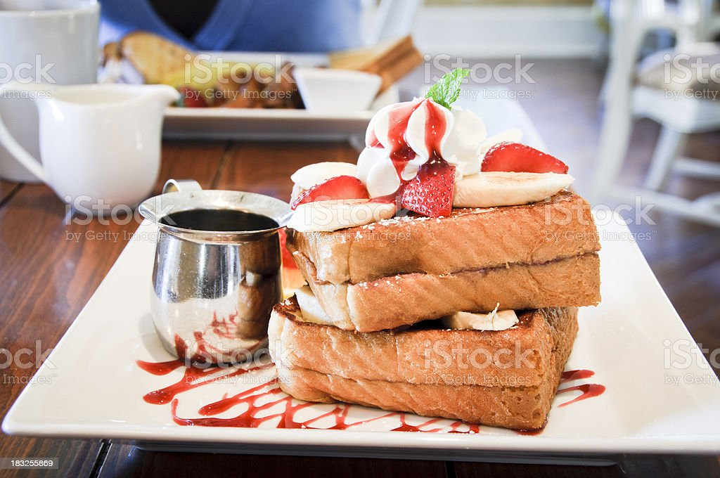 French toast at a fancy restaurant royalty-free stock photo