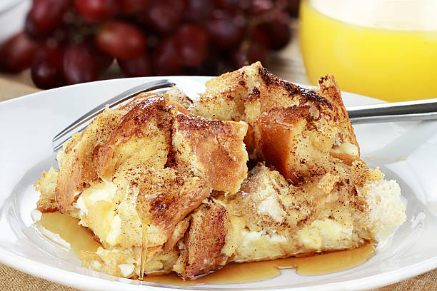 french toast casserole - casserole stock photos and pictures