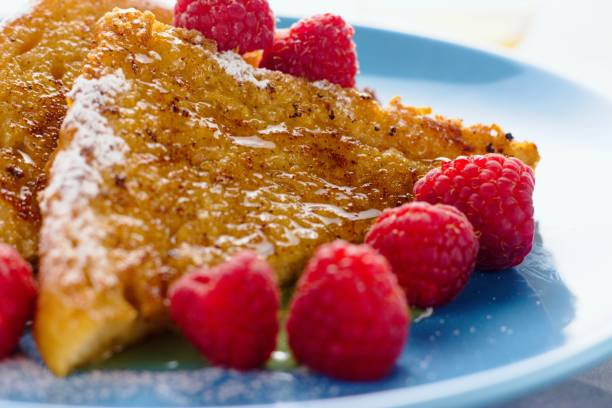French toast close up stock photo