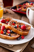 Homemade French Toast with Fresh Berries
