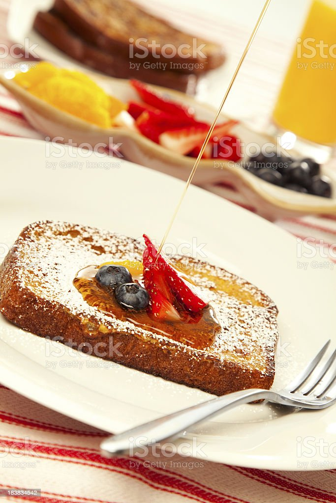 French Toast & Syrup royalty-free stock photo