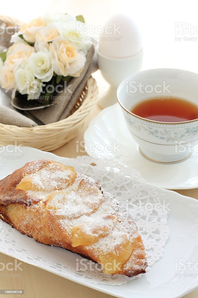 french toast with apple royalty-free stock photo