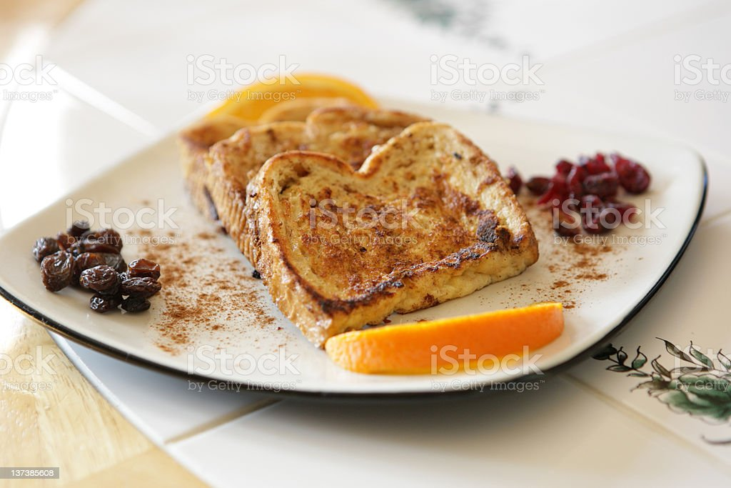 French Toast With Fruit royalty-free stock photo