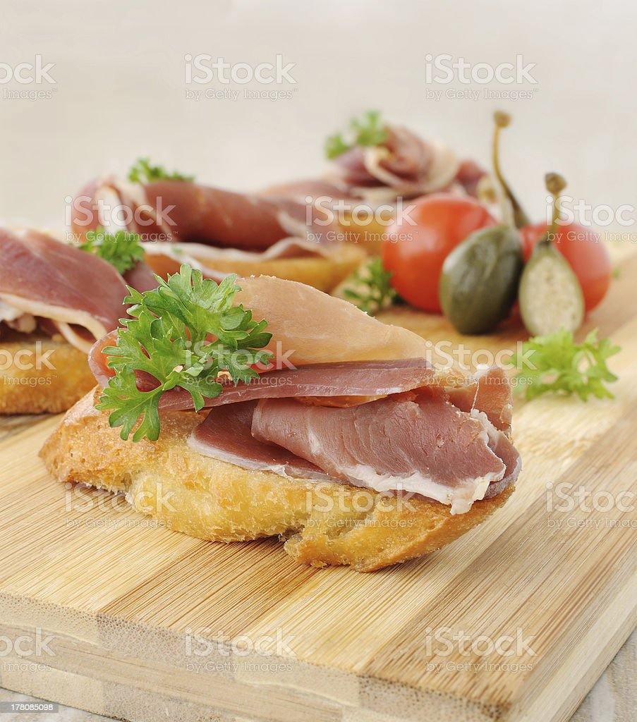 French toast with jamon royalty-free stock photo