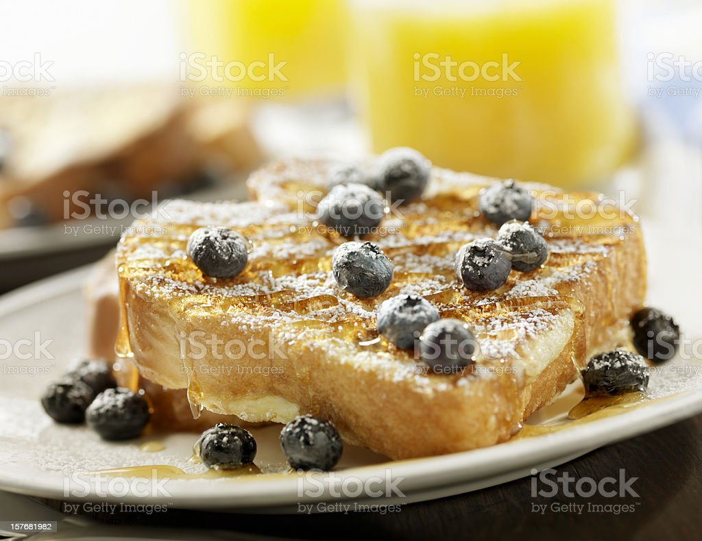 French Toast with Maple Syrup stock photo