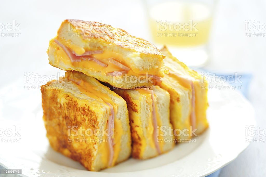 French Toasts on Plate stock photo