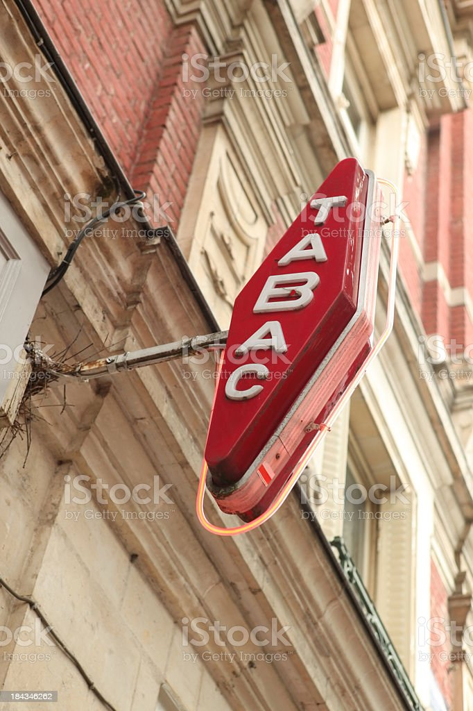 French Tobacconist Shop Sign stock photo