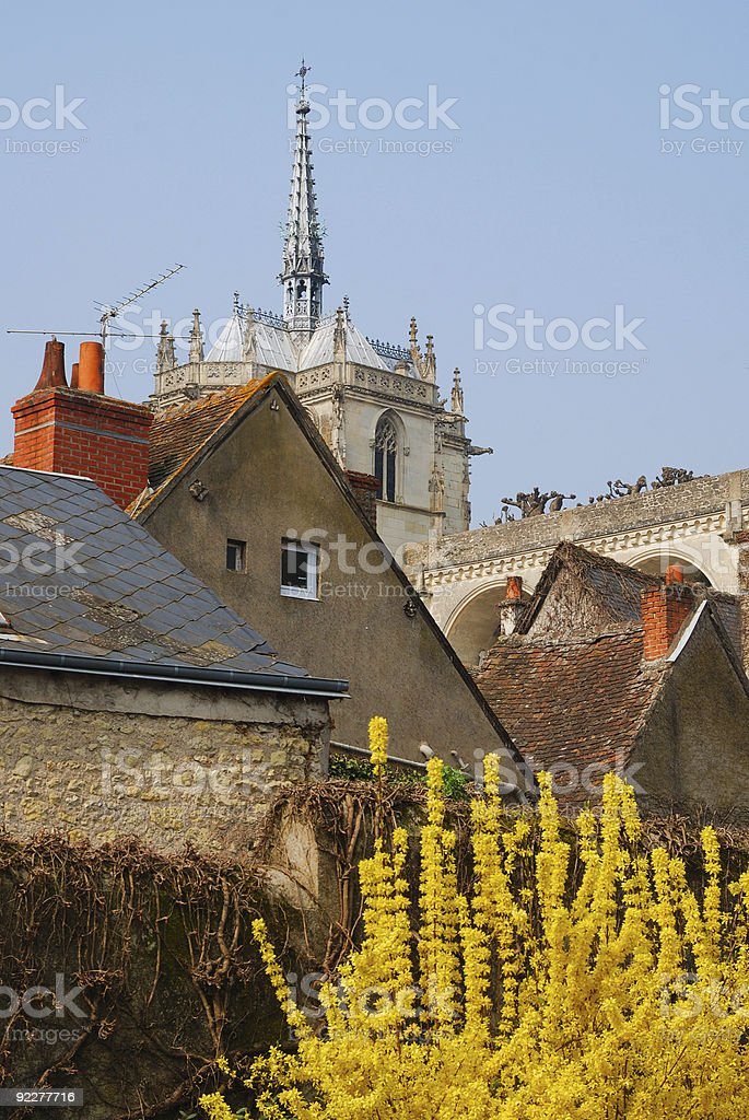 French town Amboise in spring stock photo