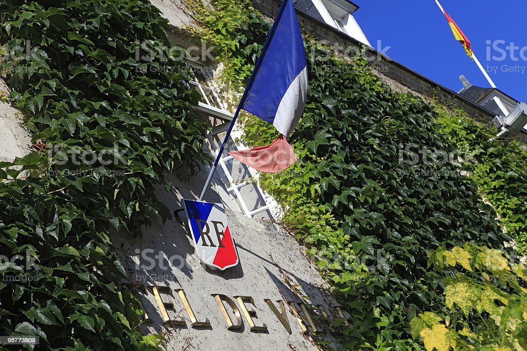 French town hall royalty-free stock photo