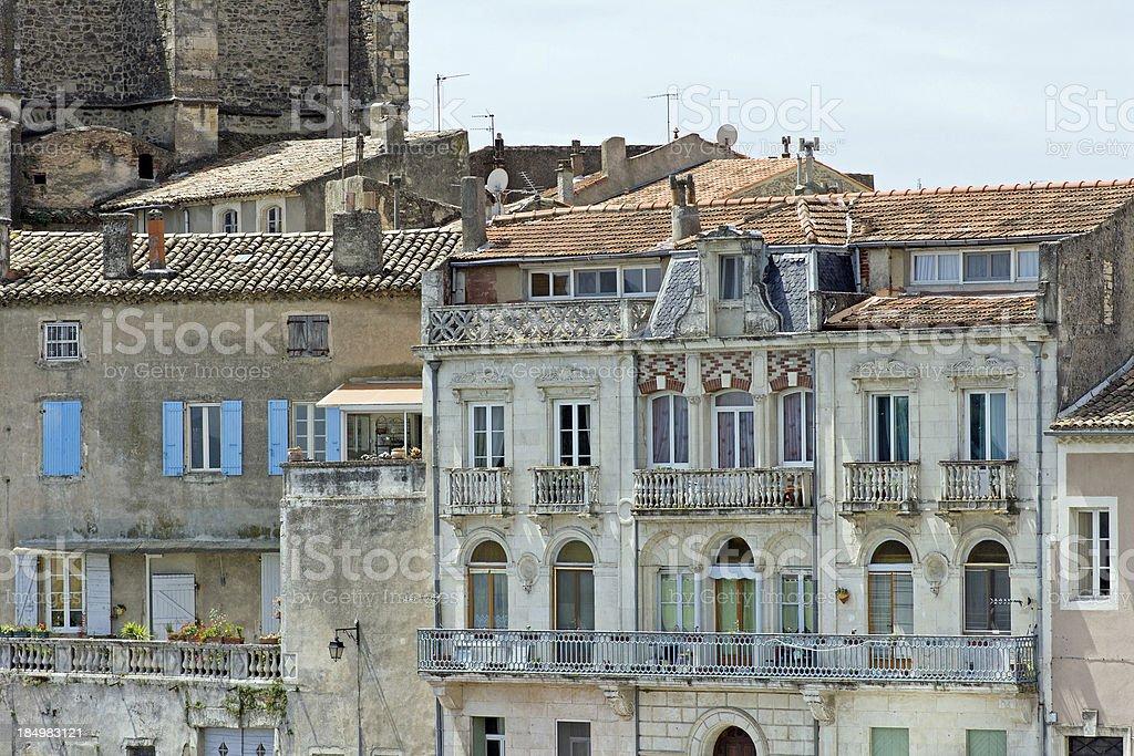 French town - Pont-Saint-Esprit stock photo
