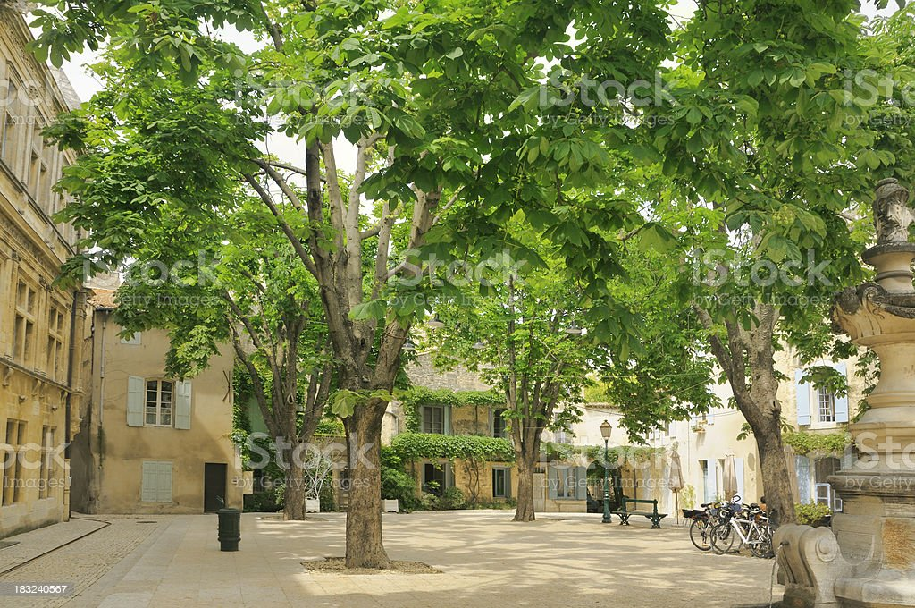 French town square stock photo