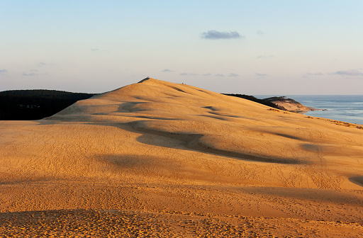 French Travel Destination Dune Of Pyla Near The Town Arcachon Stock Photo - Download Image Now