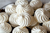 French vanilla meringue cookies