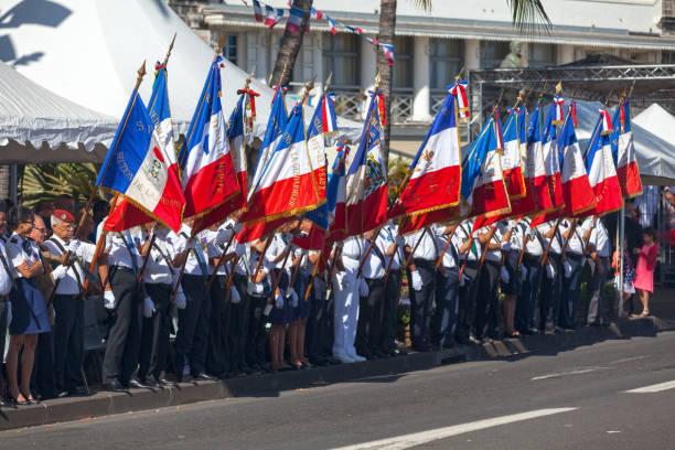 Anciens combattants Français au cours de la journée de la Bastille - Photo