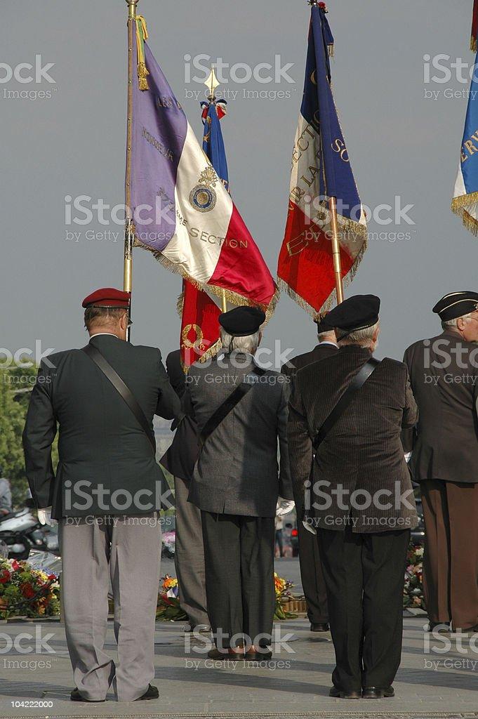 French Veterans royalty-free stock photo