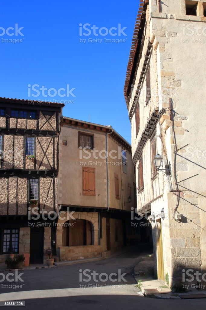 french village of Alet les bains in Aude, France stock photo
