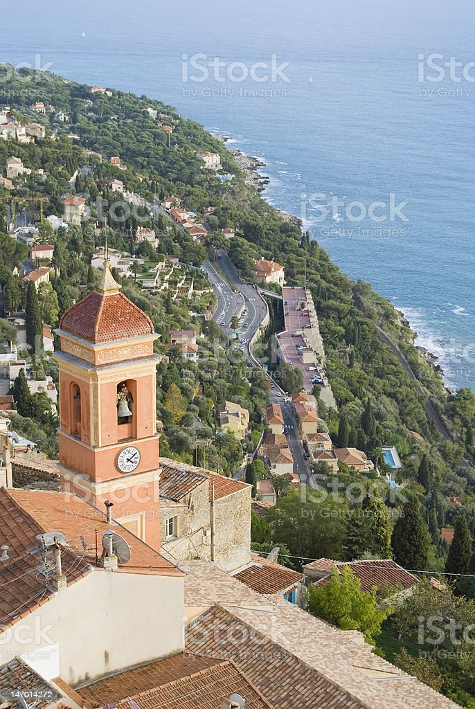 French village stock photo