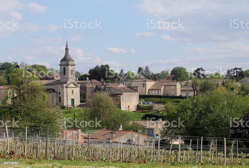 French village stock photo