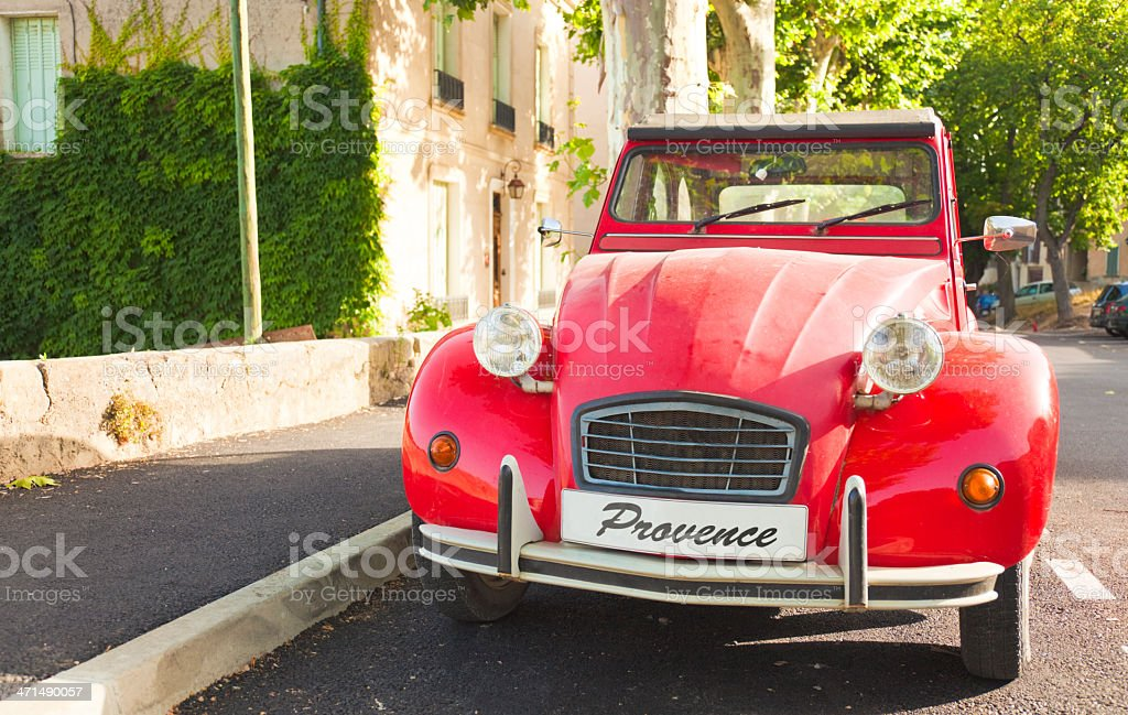French vintage car (Provence, France) royalty-free stock photo