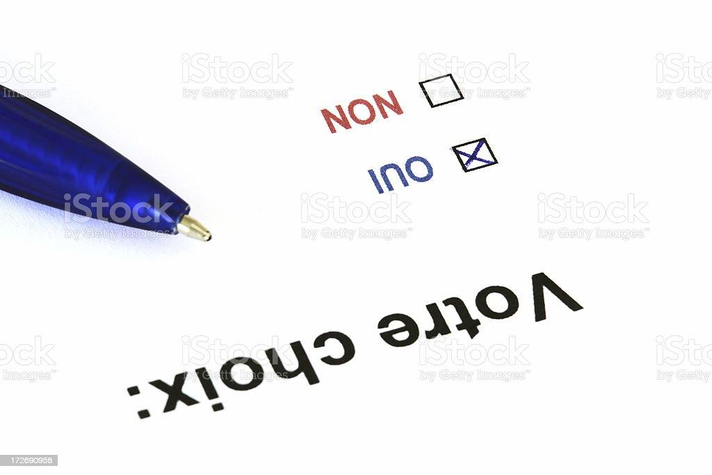 French Voting Ballot royalty-free stock photo