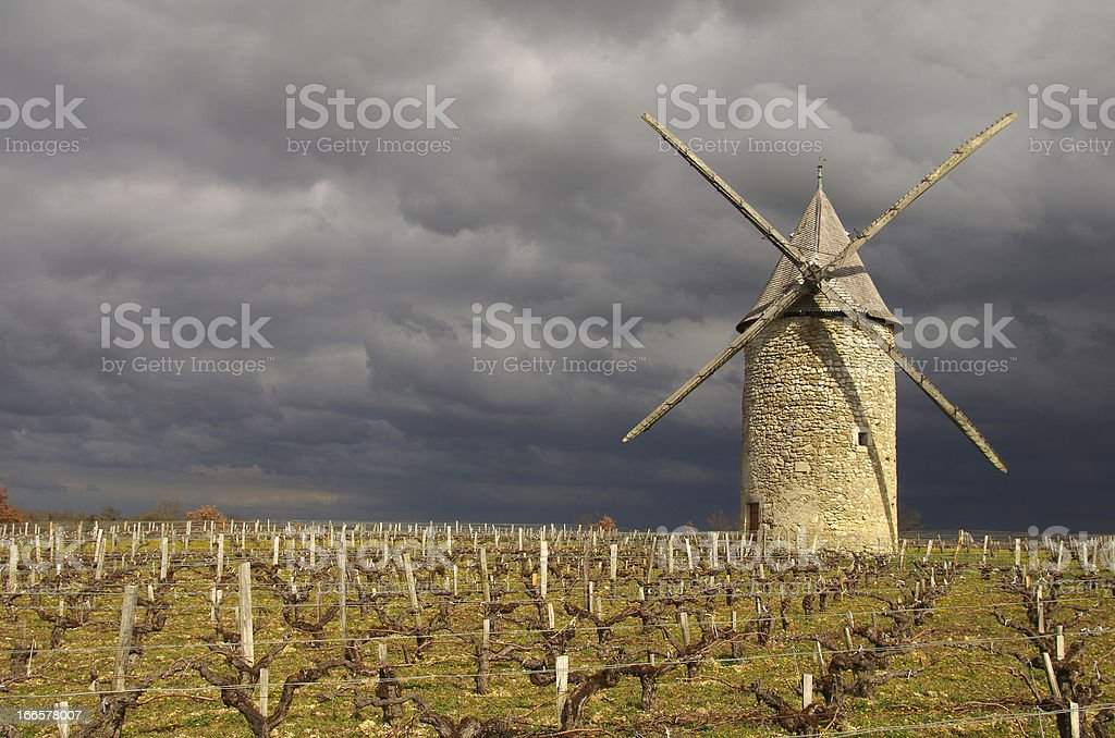 French windmill royalty-free stock photo