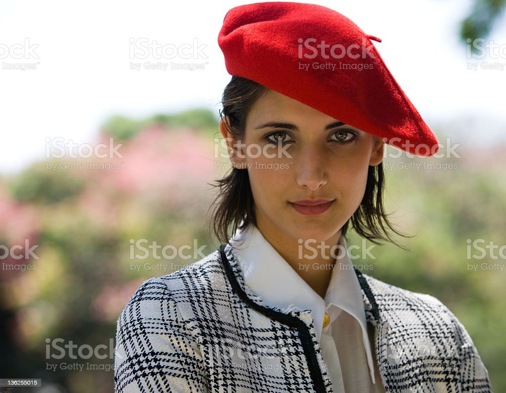 French Woman royalty-free stock photo