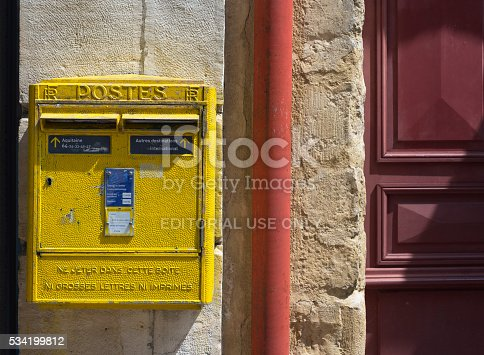 istock French yellow metal mailboxes. 534199812