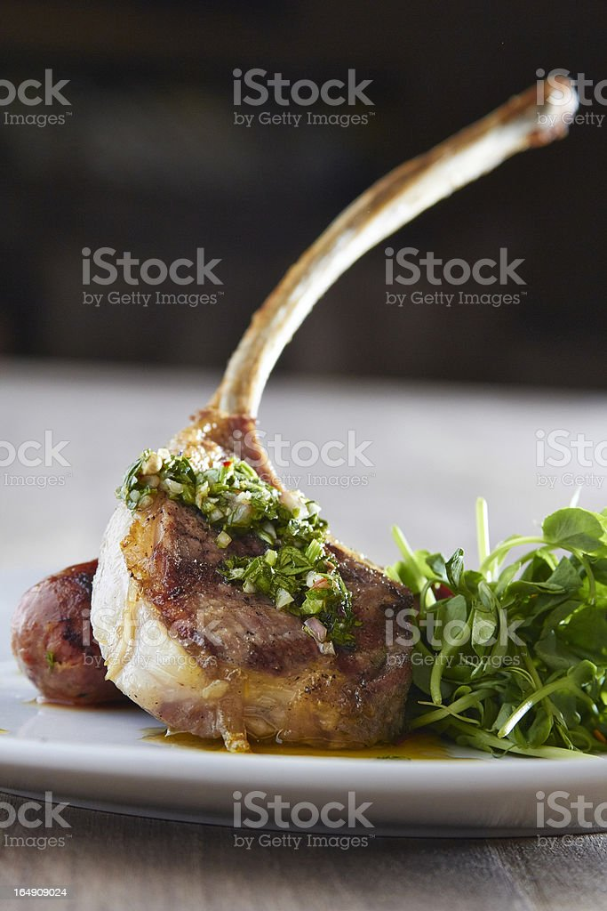 Frenched Lamb Chop stock photo