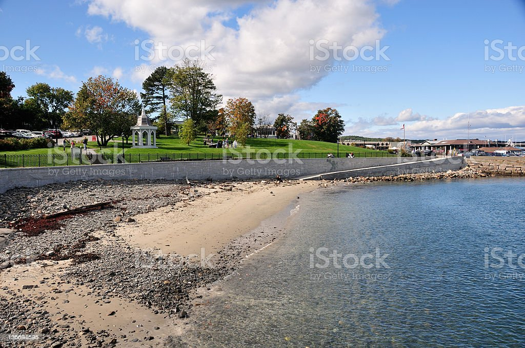 Frenchman's Bay, Bar Harbor Maine royalty-free stock photo