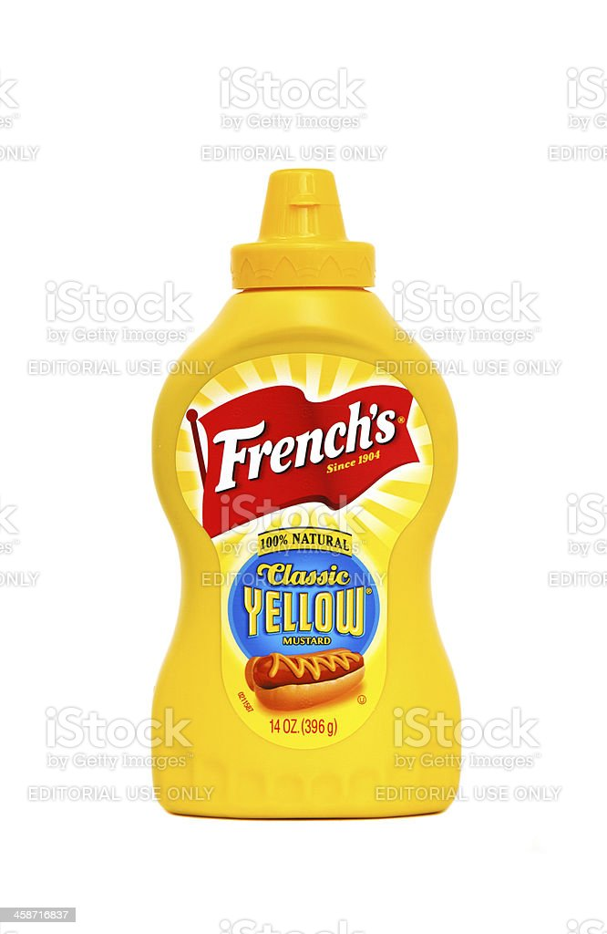 French's Classic Yellow Mustard royalty-free stock photo
