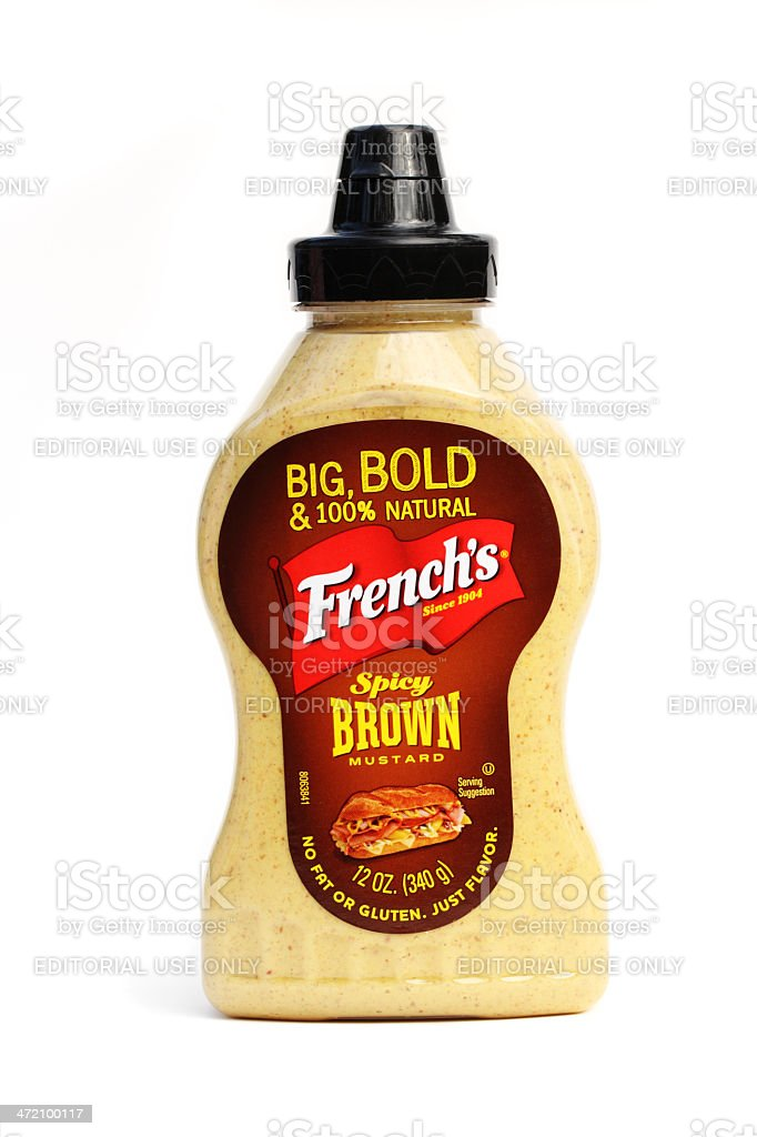 French's Spicy Brown Mustard royalty-free stock photo