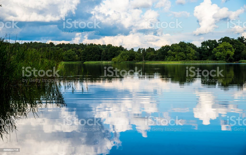 Frensham Little Pond 03 stock photo