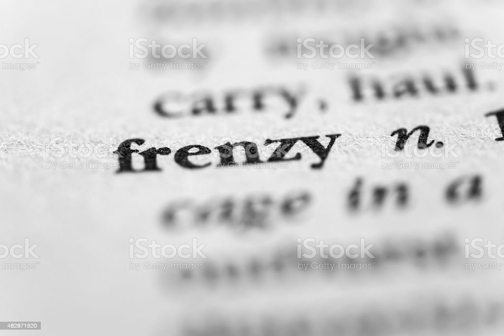 Frenzy stock photo