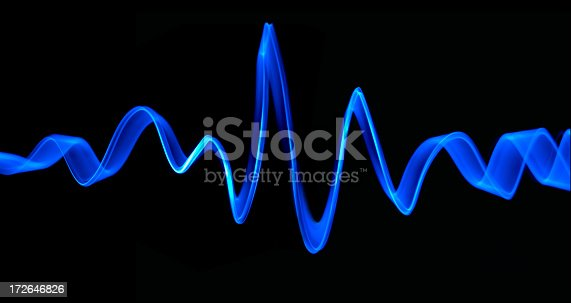 A blue frequency/light/radio wave.