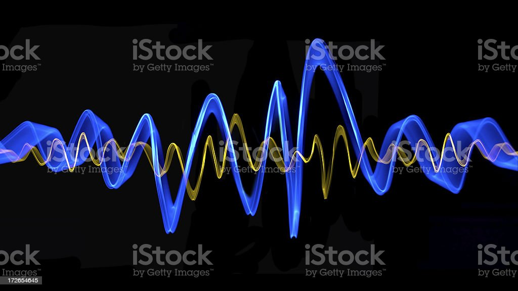 Frequency Sound Wave stock photo