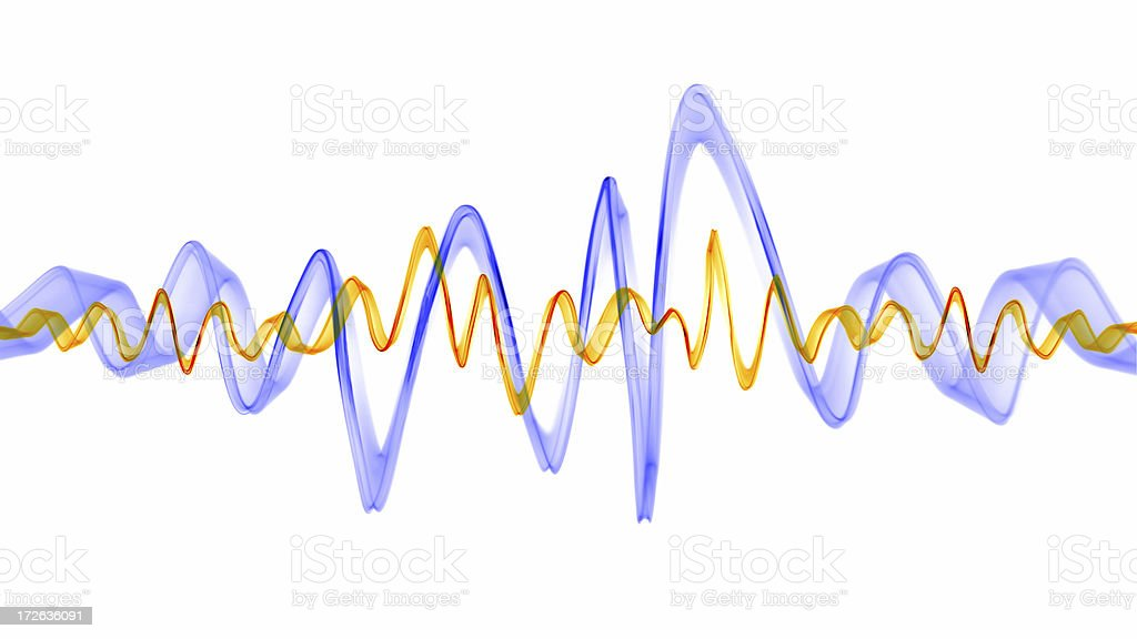 Frequency Waves stock photo