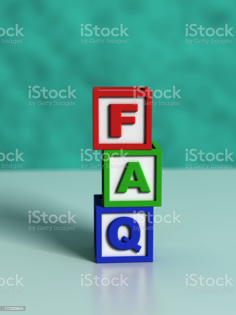 Frequently Asked Questions royalty-free stock photo