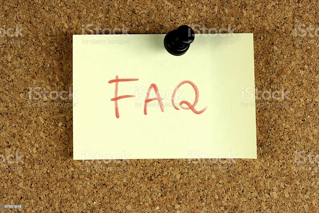 FAQ - Frequently Asked Questions royalty-free stock photo